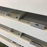 Voormontage plaatdeel op aluminium profiel